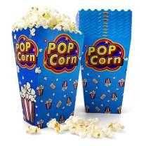 [46 oz, 50-Count, Blue Pop] Papernain Paper Popcorn Boxes, Disposable Buckets