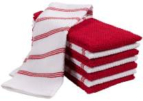KAF Home Pantry Piedmont Terry Kitchen Towels | Set of 8, 16 x 26 inch, Absorbent Terry Cloth Dish Towels, Hand Towels, Tea Towels | Perfect for Kitchen Spills, Cooking, and Messes - Cherry Red