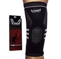 Venom Knee Sleeve Compression Brace - Elastic Support & Side Stabilizers, Runner's Knee, Jumper's Knee, Arthritis Pain, ACL, Basketball, Soccer, Crossfit, Lifting, Running, Sports, Men, Women
