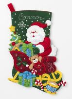 Bucilla Santa's Sleigh Stocking Kit, Multicolor