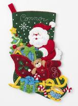 Bucilla Santa's Sleigh Stocking Kit, Multicolor
