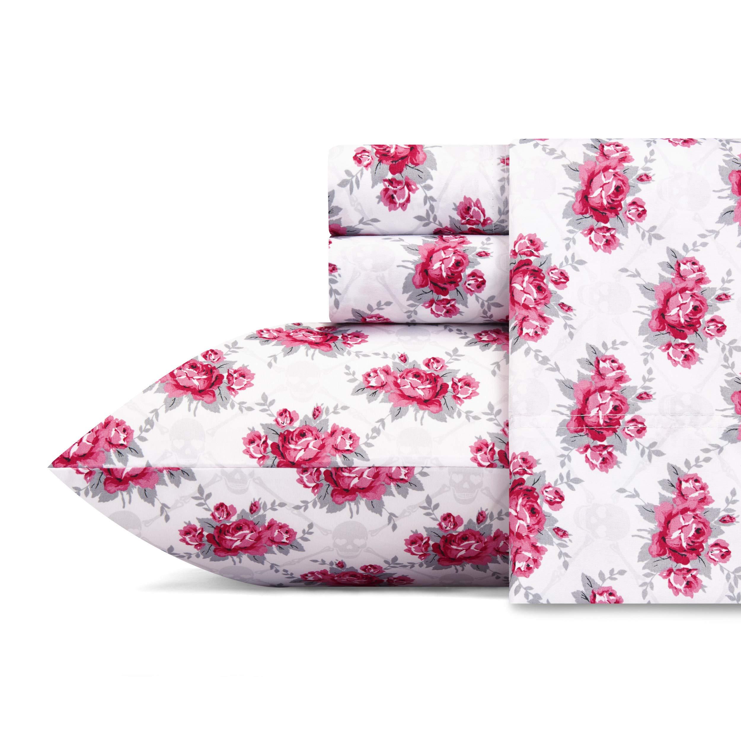 Betsey Johnson Skull Rose Trellis Sheet Set, Twin