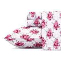 Betsey Johnson Skull Rose Trellis Sheet Set, Full