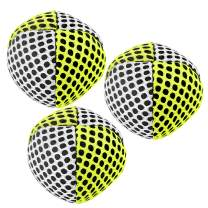 speevers Juggling Balls for Beginners and Professionals Set of 3, 10 Fresh Beautiful Summer Colors Available, 2 Layers of Net and Carry Case, Xballs Juggling Balls (White - Yellow, 110g)