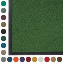 WaterHog  Diamond | Commercial-Grade Entrance Mat with Rubber Border – Indoor/Outdoor, Quick Drying, Stain Resistant Door Mat (Light Green, 4' x 12')