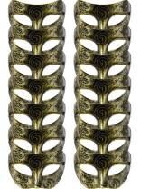 14 Pieces Unisex Retro Half Masquerade Masks Face Mask Venetian Mask for Fancy Dress Costume Party