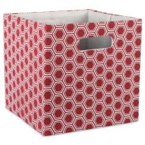 "DII Hard Sided Collapsible Fabric Storage Container for Nursery, Offices, & Home Organization, (11x11x11"") - Honeycomb Rust"