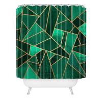 "Society6 Elisabeth Fredriksson Emerald and Copper Shower Curtain, 72"" x 69"" x 0.1"", Green"