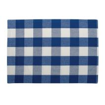 C&F Home Franklin Buffalo Check Gingham Plaid Memorial Day Labor Day Americana Woven Blue and White Cotton Placemat Set of 6 Rectangular Placemat Set of 6 Blue