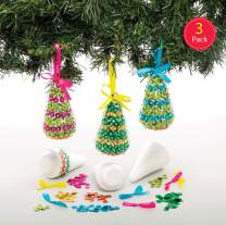 Baker Ross Christmas Tree Sequin Decoration Kits (Pack of 3) Festive Arts and Crafts for Children