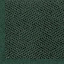 "M+A Matting 2297 Waterhog Eco Premier Fashion PET Polyester Fiber Indoor/Outdoor Floor Mat, SBR Rubber Backing, 10' Length x 3' Width, 3/8"" Thick, Southern Pine"