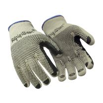 RefrigiWear Midweight Knit Double Sided PVC Dot Grip Work Gloves (Natural, X-Large) - PACK OF 12 PAIRS