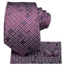 Hi-Tie Silk Neckties Woven Casual Suit Tie for Men Business Wedding