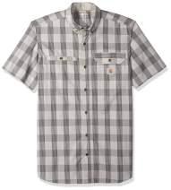 Carhartt Men's Force Plaid Ridgefield Short Sleeve Shirt (Regular and Big & Tall Sizes)