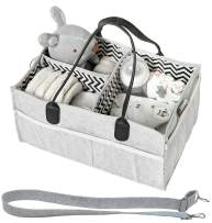 Diaper Caddy - Baby Diaper Caddies Organizer, Cloth Diapering, Tote Bag, Nursery Storage Bin for Changing Table, Portable Car Travel Organizer, Baby Wipes Shower Gift Basket for Baby Essentials