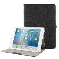 iPad Case for New iPad 9.7 2018 2017/iPad Air 2/iPad Air/iPad Pro 9.7 - BORIYUAN Protective Slim Case Folio Smart Cover with Auto Wake/Sleep Function & Pencil Holder for iPad 9.7 inch - Black