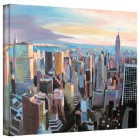 Art Wall 'New York City Skyline in Sunlight' Gallery Wrapped Canvas Artwork by Markus Bleichner, 18 by 24-Inch