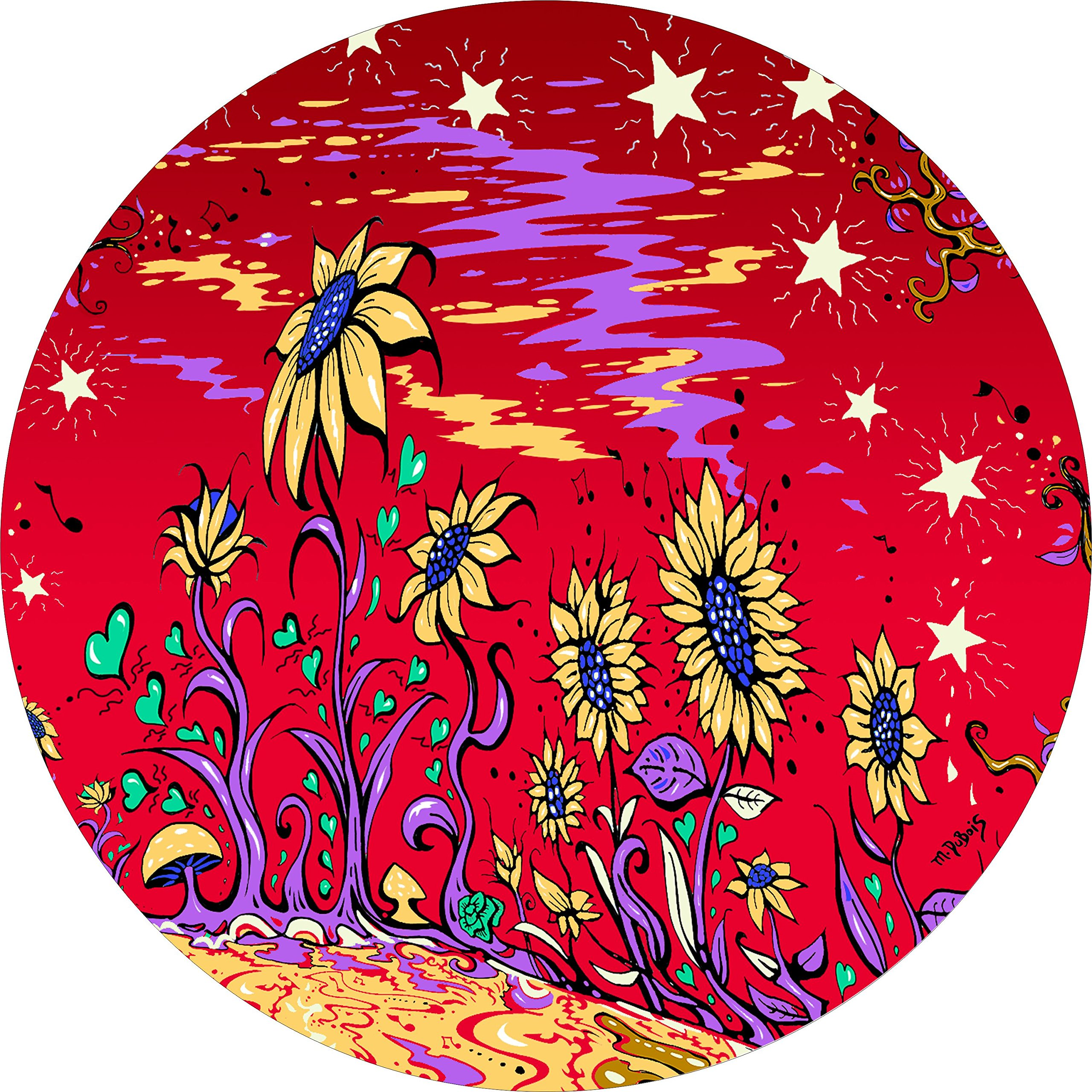 TIRE COVER CENTRAL Sunflower Field RED Spare Tire Cover for fits Camper-Jeep-rv-Scamp-Trailer(Drop Down Size menu