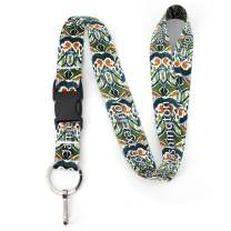Buttonsmith Ikat Pattern Premium Lanyard - with Buckle and Flat Ring - Made in The USA