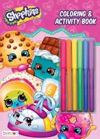 Bendon 44154 Shopkins Coloring & Activity Book with Markers