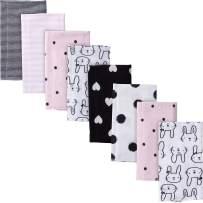 "Gerber Baby Girls' 8-Pack Flannel Burp Cloth, Bunny, 20"" x 14"""