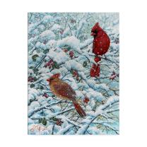 Winter Cardinal Painting by Jeff Tift, 35x47-Inch
