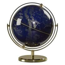 "Wild Wood Illuminated Constellation Globe with Stand, LED Lighting, and USB Plug, 8"", Night Sky (AWWL070)"