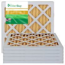 FilterBuy 14x14x1 MERV 11 Pleated AC Furnace Air Filter, (Pack of 6 Filters), 14x14x1 – Gold