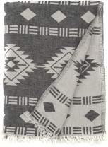 Bersuse 100% Cotton Belize Dual-Layer Handloom Turkish Towel - 37X70 Inches, Black