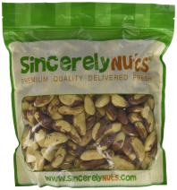 Sincerely Nuts Raw Brazil Nuts No Shell (3Lb Bag)   Premium Healthy Snack Food   Whole, Kosher, Vegan, Gluten Free   Keto & Paleo Diety Friendly   Gourmet Snack   Source of Vitamins & Minerals