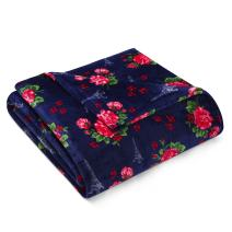 Betsey Johnson French Floral Blanket, Twin, Navy