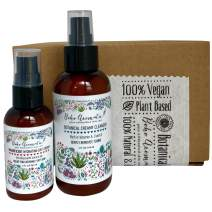 Boho Aromatic Flower Power Skincare Bundle includes Magnificent Hydrating Day Cream, Botanical Creamy Cleanser, All Natural & Organic and Plant Based Vegan, Mothers Day Gift for her 2 Pack