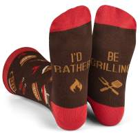 Lavley - I'd Rather Be - Funny Socks For Men and Women (Golfing Fishing Hunting Camping Racing Football Biking Grilling)