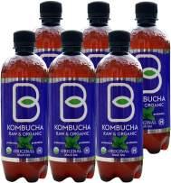 Imported Raw Organic Kombucha Probiotic Original Tea - 16 oz. 6 Pack