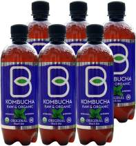 Imported Raw Organic Kombucha Probiotic Original Tea - 16 oz. 6 Pack