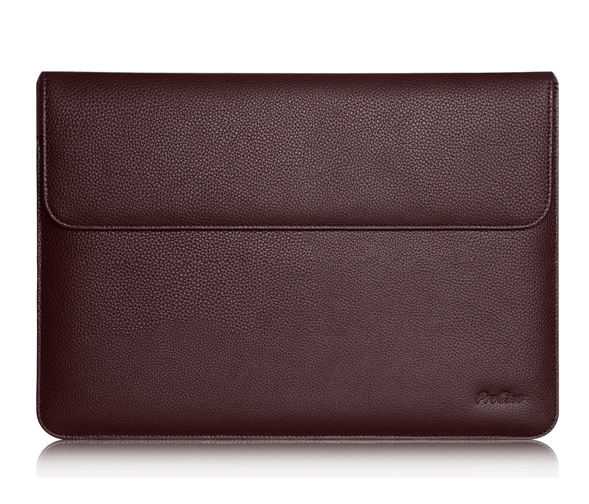 """Procase 9.7-10.5 Inch Wallet Sleeve Case for iPad 10.2 7th 2019,Air 10.5 2019, iPad Pro 9.7"""", iPad Pro 10.5, iPad Air/Air 2, Galaxy Tab S3 S2 9.7/Tab A 10.1, Document Pocket and Pen Holder (Brown)"""