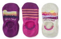 Life is Good 3-Pack Hidden No Show Socks
