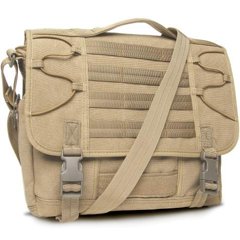 "Crossbody Messenger Bag for Men Multi-function Canvas Business Briefcases Work Purses Fits 13.3"" Laptop"