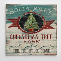 Renditions Gallery Vintage Ad: Christmas Tree Farm Gallery Wrapped Canvas Wall Art, 16x16,