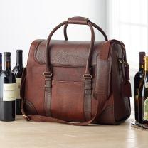 6-Bottle Leather BYO Weekender Wine Bag
