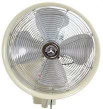 "HydroMist F10-14-013 18"" Shrouded Outdoor Wall Mount Oscillating Fan, 3 Speed On Motor, 0.15 HP, 1.05 Amps, White"