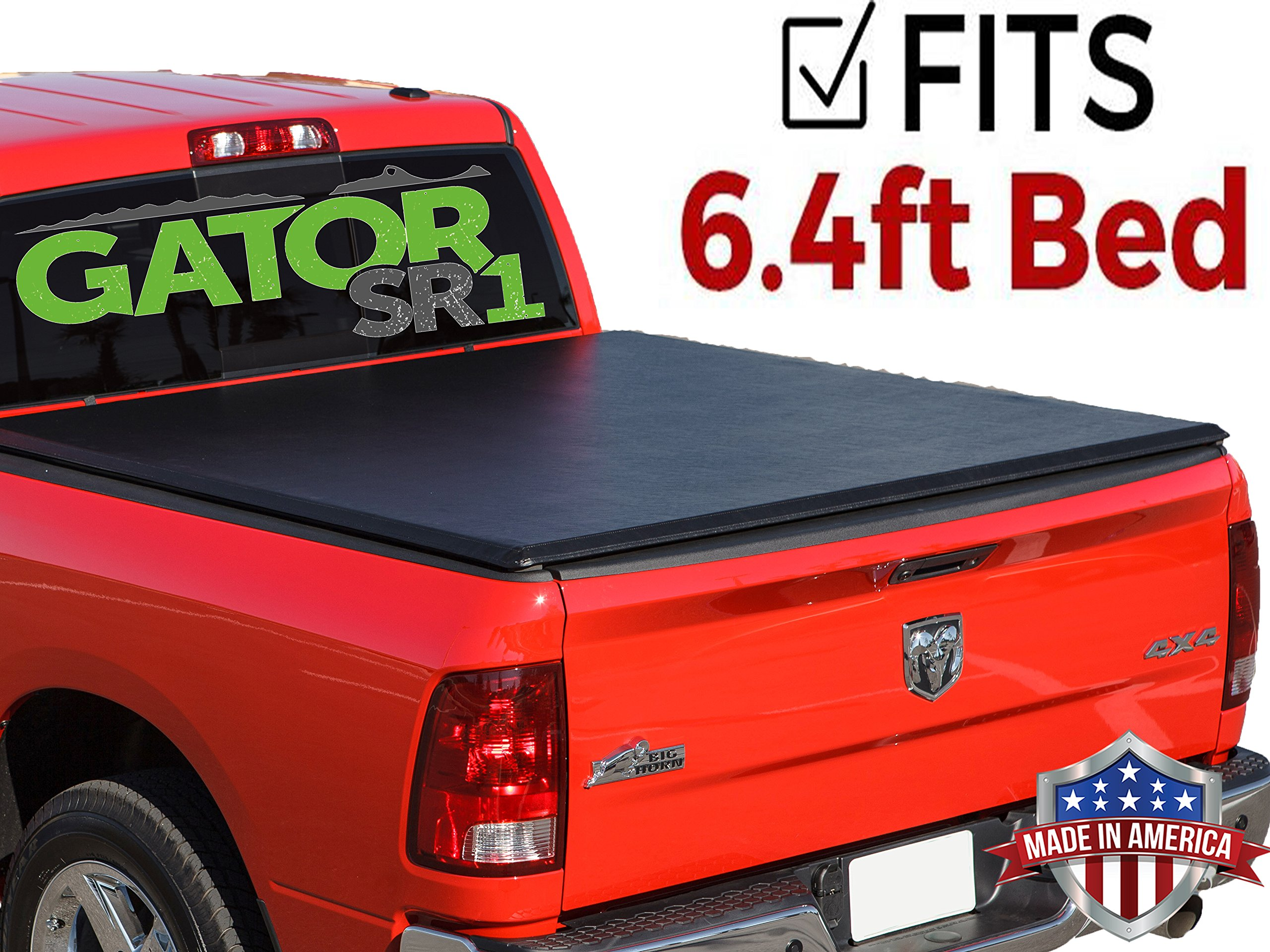 Gator SR1 Roll-Up (fits) 2002-2009 Dodge Ram 6.4 FT Bed Only Soft Roll Up Tonneau Truck Bed Cover (55201) Made in the USA