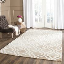 Safavieh Dip Dye Collection DDY537G Handmade Geometric Moroccan Watercolor Beige and Ivory Wool Area Rug (6' x 9')