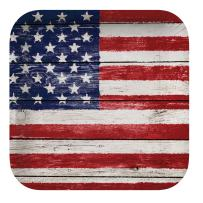 """Creative Converting 8 Count Square Paper Dinner Plates, 8.75"""", Weathered Flag"""
