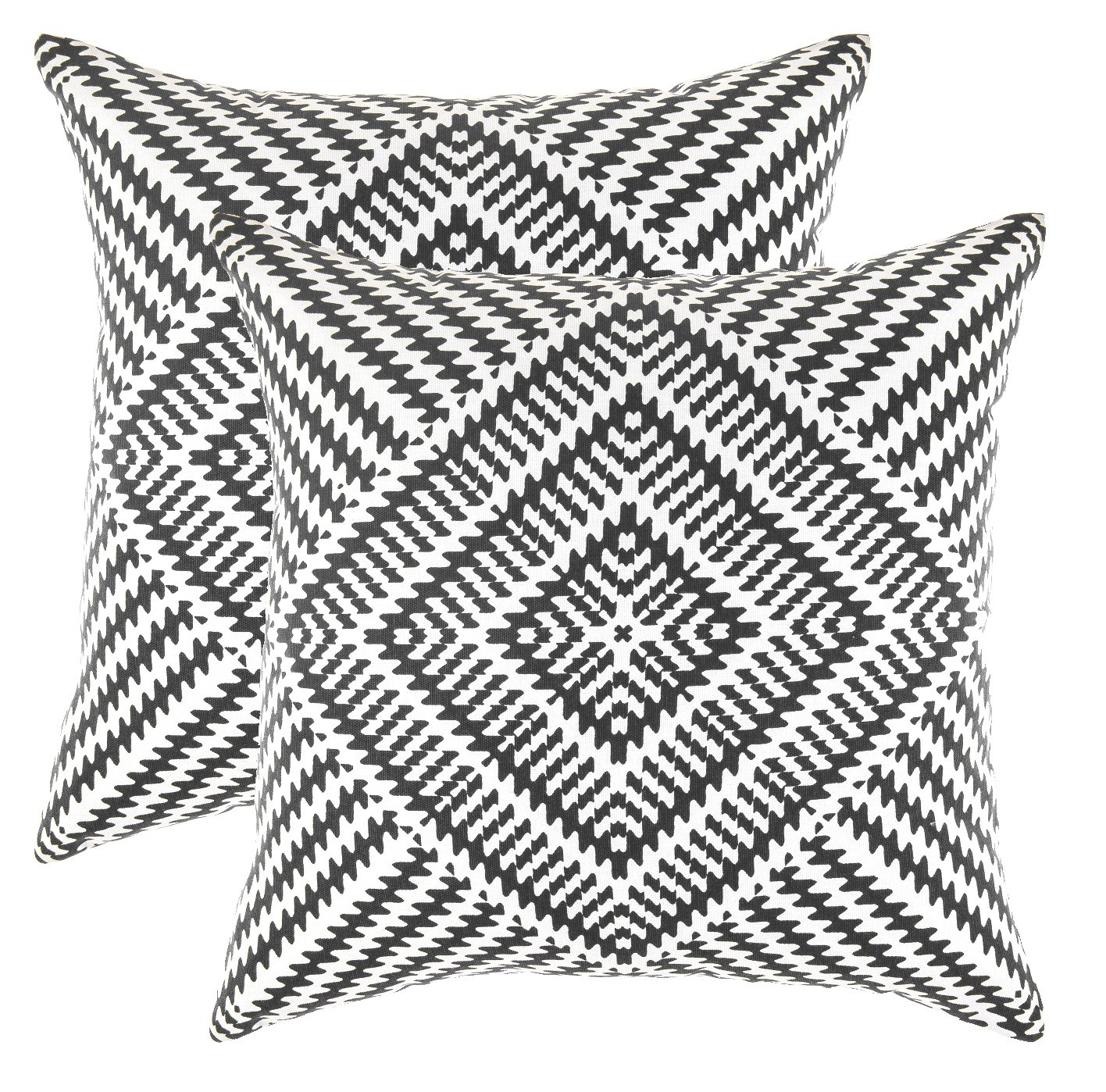 TreeWool, Pack of 2, Throw Pillow Cover Kaleidoscope Accent 100