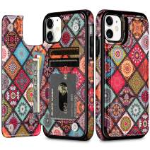 HianDier Wallet Case for iPhone 11 Slim Protective Case with Credit Card Slot Holder Flip Folio Soft PU Leather Magnetic Closure Cover for 2019 iPhone 11 iPhone XI, Mandala Colorful