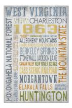 West Virginia - Rustic Typography (Premium 1000 Piece Jigsaw Puzzle for Adults, 20x30, Made in USA!)