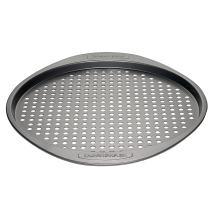 Farberware Nonstick Bakeware Round Pizza/Crisper Pan, 13 Inch, Gray