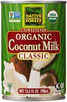 Native Forest Unsweetened Classic Coconut Milk, Organic, 13.5 Fl Oz