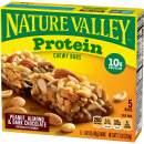 Nature Valley Chewy Granola Bar, Protein, Gluten Free, Peanut Butter Dark Chocolate, 5 Bars, 1.42 oz
